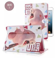 Cartoon Movie Baymax PU Leather Case for Apple iPad 3,For Apple iPad 3 Stand Protective Case Cover