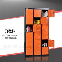 IGO-026 18 doors locker best steel wardrobes /furniture for clothing storesteel wardrobe