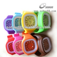 Silicone watch with ion, germanium, titanium