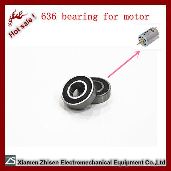 chrome steel 636 zz 2rs open bearing for fan motor
