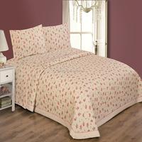 Flower printing cotton quilt bedspread set