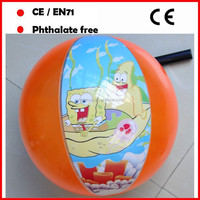 Cartoon printed beach ball inflatable for promotional