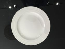white porcelain dessert plate, bulk dinner plate, salad plate for hotels
