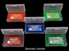 Livraison gratuite par DHL pour EUR / allemagne Version Pokemon jeux pour GBA jeux