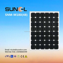 180W monocrystalline PV solar panel price with TUV IEC CE certificate