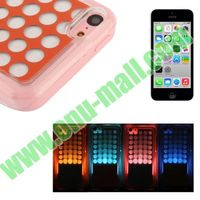 4 Color Changing Plastic LED Case for iPhone 5C with Call Reminding Function
