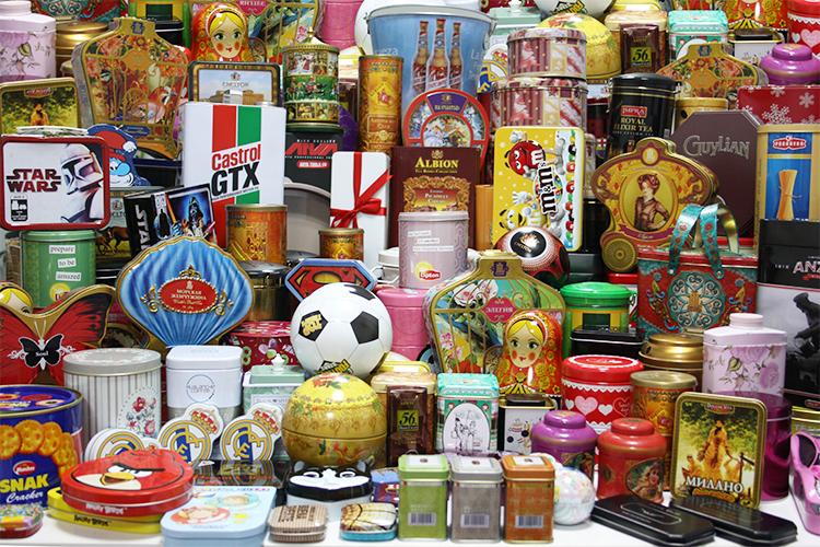 Decorativos latas de biscoito de natal, latas decorativas de natal