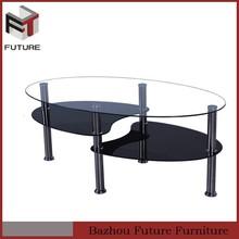 black animal shape fish head glass coffee table