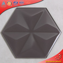 HSL01-C Side To Side 200mm Big Size Glass Mosiac Hexagon Tile For Bathroom Decoration