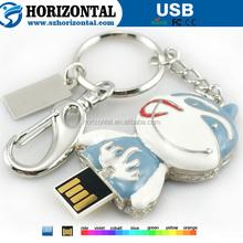 ShenZhen manfacturer drop oil metal Cartoon Character Key ring USB disk