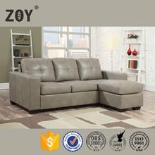 ZOY-90710 Modern L Shape Style Synthetic Leather Folding Corner Sofa Bed