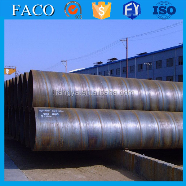 Spiral pipe ssaw steel large diameter