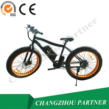Sport type lithium battery foldable electric bicycle/fat tire snow e bike with CE Certificate