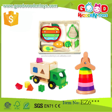 2015 Fancy Design Discoveroo Fruits Shape Solid Wood Music Toys Set