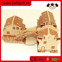 Educational toy DIY 3d wooden puzzle jigsaw
