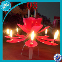 music birthday candle/ auto open flowers