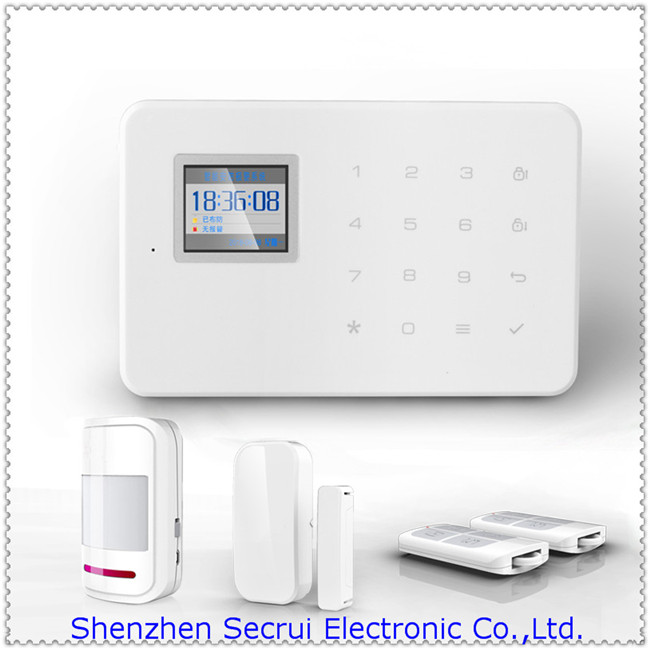 New wireless home security system gsm smart phone self for Self security system