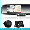 "JM-043LA 4.3"" Capacitive Touch Screen Rearview Mirror with gps bluetooth camera and full HD DVR optional"