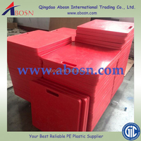 Crane outrigger pads, truck stabilizer legs, stabilizer pads for mobile stage trailer