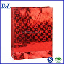 Best popular for Christmas!Good quality and cheap price red luxury paper shopping bag for packing gift