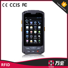 Custom android mobile phone standby time over 150h supermarket barcode scanner uhf rfid reader