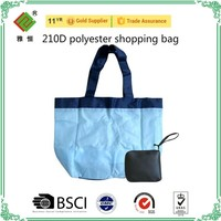 cheap 190T polyester foldable shopping bag