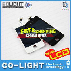 2015 Free Ship OEM Service!! Mobile Phone Parts/for iPhone 4 Parts/Accessories for iPhone 4g lcd with 12 months guarantee