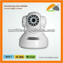 720*576 Pan/Tilt robot wire/wireless network ip camera