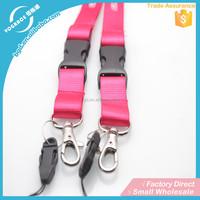 Custom double clip lanyard,safety lanyard