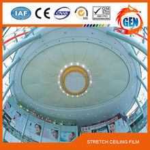 pop designs stretch ceiling film for wall panel and ceiling decoration