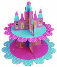 2 tire corrugated paper party unique cake stands