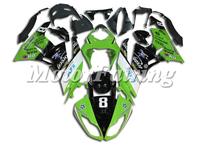 zx6r bodykit for kawasaki ninja zx6r 636 2009-2010 zx6r 09-10 zx6r fairing kit green black cheap price