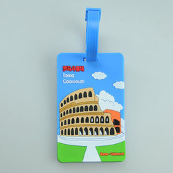 New Fashion Scenic Luggage Tags Soft Silicone Baggage Custom Tags Oversea Abroad Name Label ID Information Card Travel Bag Parts