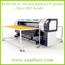 R180 flatbed and roll to roll UV printer/6 feet printing width uv printer/R180 UV Printer