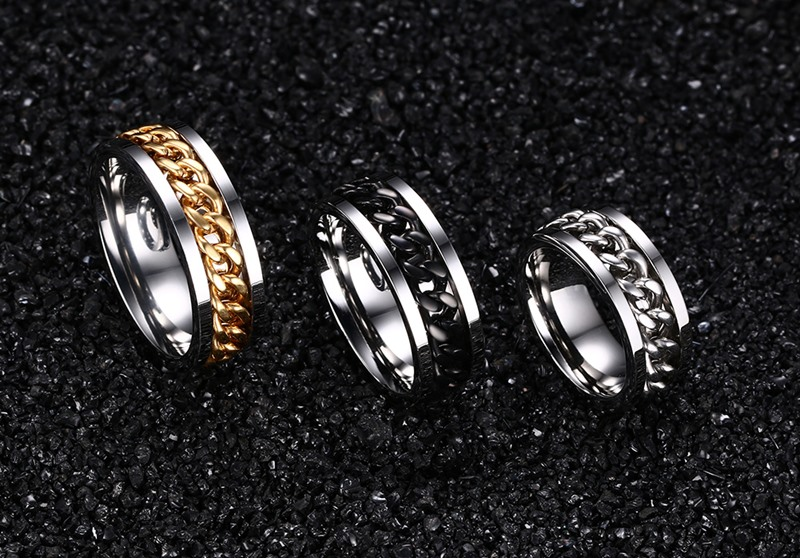 wholesale cheap stainless steel rings rotating spinner