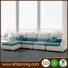 Modern L shape wood frame fabric office furniture sofa for sale