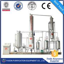 Hot sale waste oil regeneration equipment, oil filtration machine, used engine oil refining machine