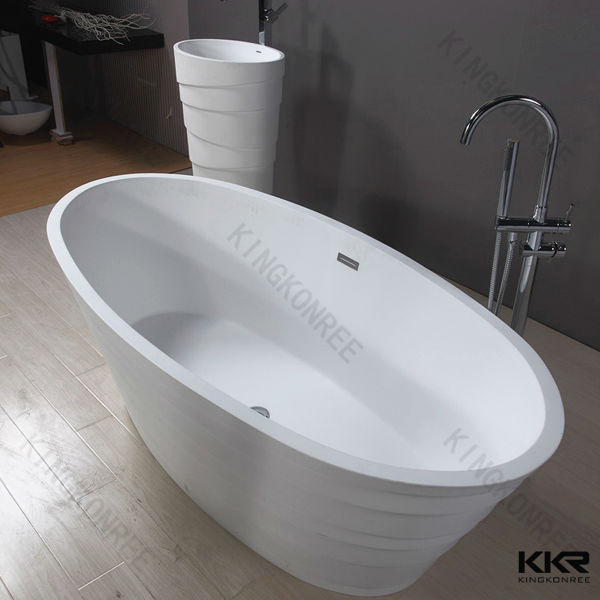 Small unique acrylic resin stone fancy freestanding for Freestanding stone resin bathtubs