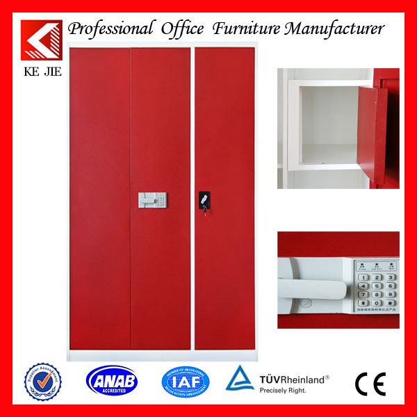 New design 2 door steel almirah clothes storage closet