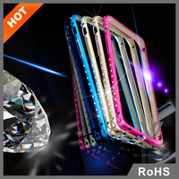 Jules.V Luxury Crystal Metal Bumper Cell Phone Case Color Changing Phone Case