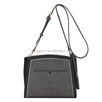 2015 Most Attractive Color Block PU Crossbody Lady Bag