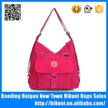 Alibaba China new style beautiful women's convert to a backpack from a shoulder bag