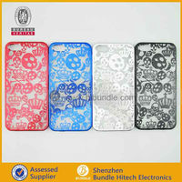 Wholesale New Arrival Fashionable PC+Chroming Skull Hard Case for iPhone5