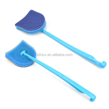 Hot sale bathroom long handle floor cleaning brush/sponge cleaning brush