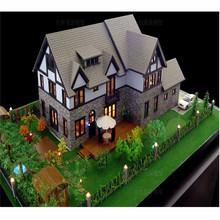 Architecture model figure for villa house , beautiful villa house model