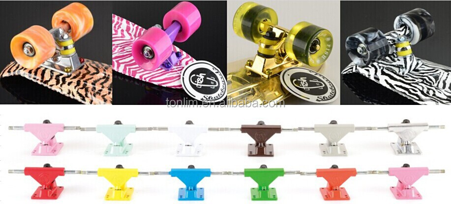 plastic mini fish skate board mini penny skateboard Vacuum Metalizing TLS-401