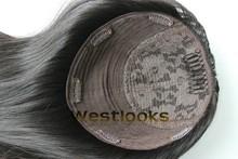 Alibaba Best Sellers Mongolian Human Hair Jewish Wig Topper Kippah Fall
