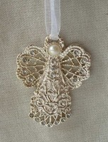 gold plated alloy Christmas Angel hanging ornament
