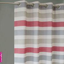 Linen Stripe Curtains-100% Polyester stripe curtains 2013 latest design curtains