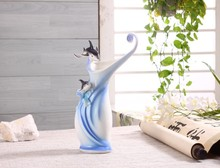Chinese Style Dolphin Pattern Ceramic Vase